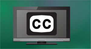 TV with CC icon graphic